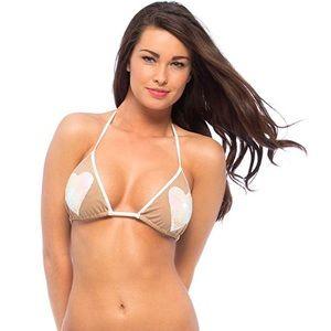 Beach Bunny Heartbreaker Sequin Bikini Top